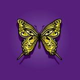荧光的蝴蝶 库存例证