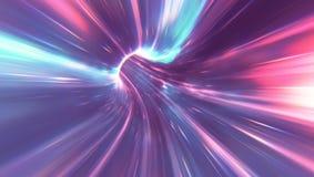 荧光的蠕虫孔 向量例证