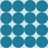 荧光的迷离玻璃螺旋 免版税库存照片