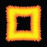 荧光的轻的正方形 免版税库存图片