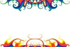 荧光背景的液体 皇族释放例证