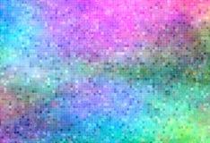 荧光背景飘渺的马赛克 免版税图库摄影