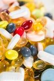 药、药片和胶囊和片剂 免版税库存照片