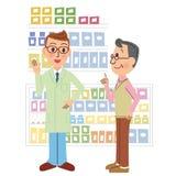 药剂师和访客 库存例证