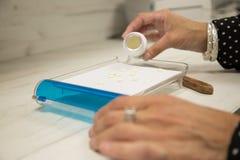 药剂师填装的处方 免版税库存图片
