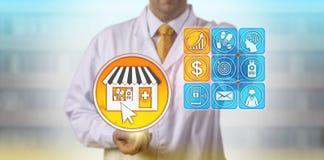 药剂师自关心市场预测增长  免版税库存图片