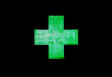 药房的光十字架  免版税库存图片