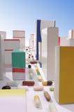 从药片和配件箱做的城市 库存图片
