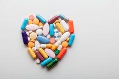 药片心脏 库存照片
