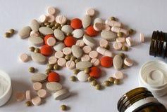 药片的不同的类型 库存照片