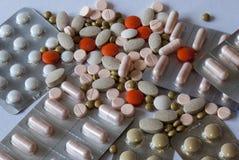 药片的不同的类型 图库摄影