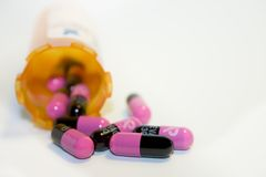 药片粉红色 库存图片