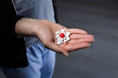 药片红色白色 库存图片