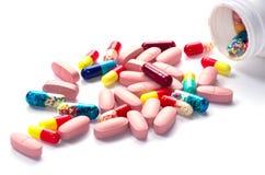 药片药瓶 库存照片