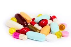 药片补充条款维生素 免版税库存图片