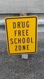 药物免费学校区域 免版税库存图片