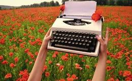 药物和爱醉,鸦片,医药 夏天和春天,风景,罂粟种子记忆天安扎克天 免版税库存照片
