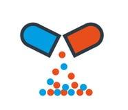 药物胶囊象设计 向量例证