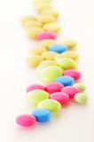 药物药片和饮食补充条款种类  免版税库存照片