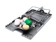 药物风险处理 免版税库存照片