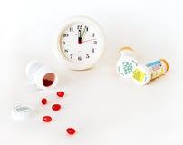 药量您医学的时间 免版税库存图片