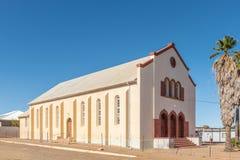 荷兰人的第一个大厦在卡拉斯堡改革了教会 免版税图库摄影