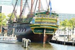 荷兰人船 库存照片