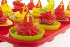 荷兰人Sinterklaas杯形蛋糕 库存照片