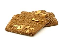 荷兰传统酥皮点心的speculaas 免版税库存照片