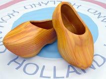 荷兰全国木木鞋 免版税图库摄影