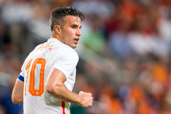 荷兰全国足球小队的罗宾・范佩西 免版税图库摄影
