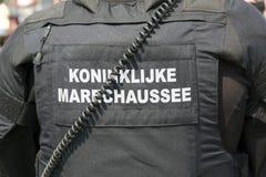 荷兰军警 库存图片
