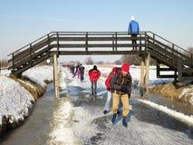 荷兰冬天 免版税图库摄影