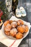 荷兰多福饼- Oliebollen 免版税库存照片