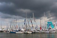 荷兰小船展示2018年 库存图片