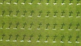 荷兰战争公墓空中风景  股票录像