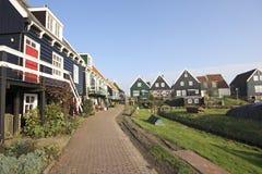荷兰房子marken木 库存照片