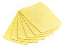 荷兰扁圆形干酪片式 库存照片