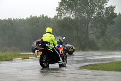 荷兰摩托车警察 免版税库存照片