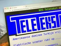 荷兰文字电视广播的主页 免版税库存照片