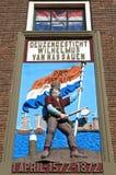 荷兰新教徒自由战斗机五颜六色的艺术品  库存照片