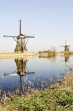 荷兰木磨房的风 免版税库存图片