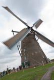 荷兰木磨房的风 免版税库存照片