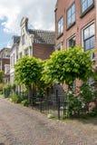 荷兰村庄Maarssen场面  免版税图库摄影