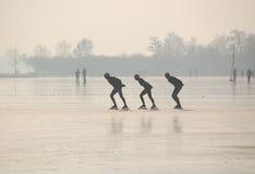 荷兰滑冰 免版税库存照片