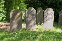 荷兰犹太公墓在Diemen荷兰 库存图片