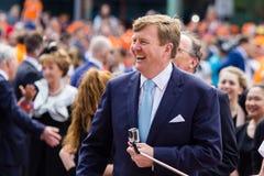 荷兰的威廉亚历山大,国王` s天2014年,阿姆斯特尔芬,荷兰国王 库存图片