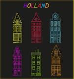 荷兰的老建筑学 图库摄影