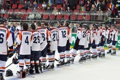 荷兰的队。背面图。 库存照片