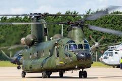 荷兰皇家空军Koninklijke Luchtmacht波音CH-47D契努克族有双发动机的抬举费力的军用直升机D-101 免版税库存图片